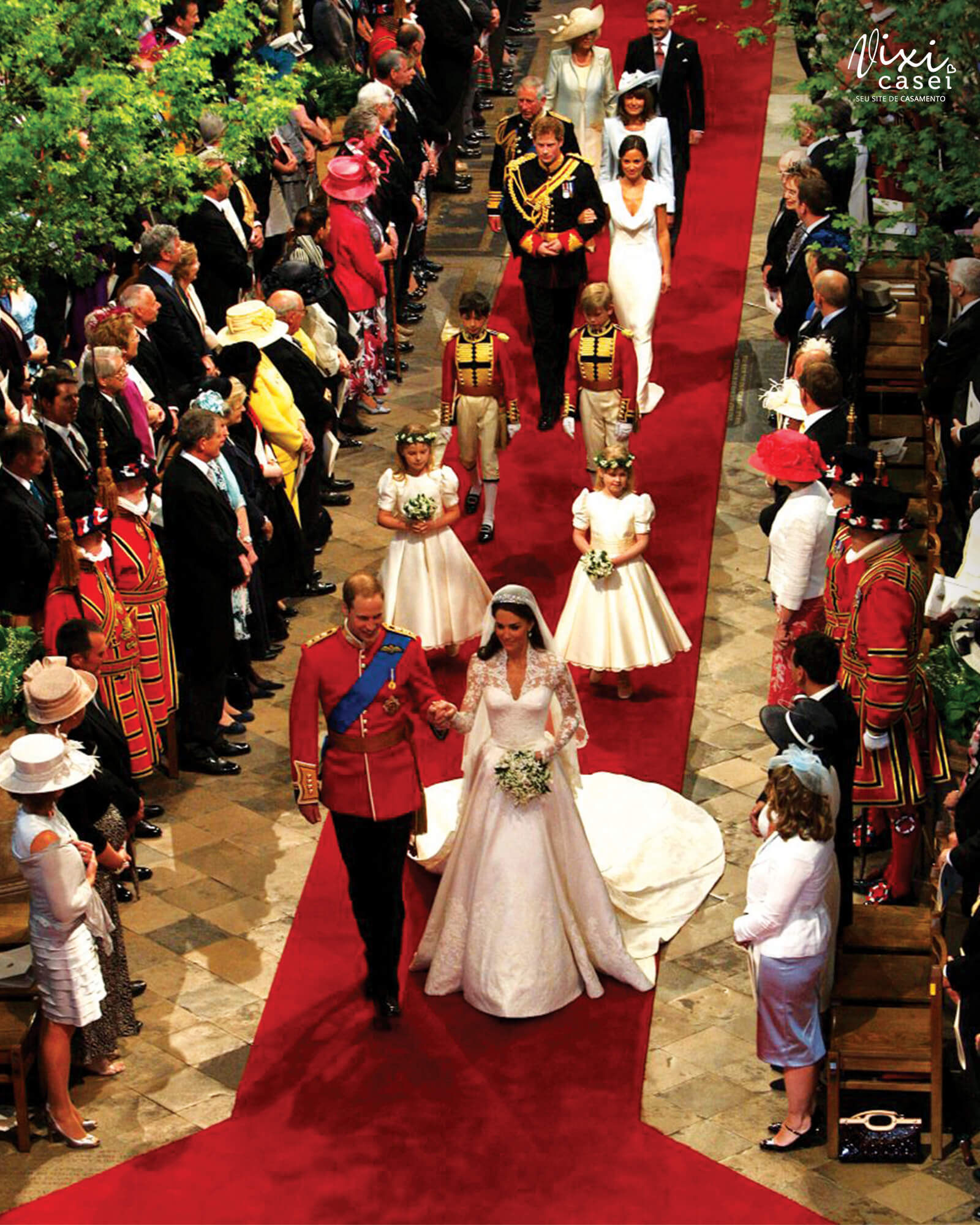 Excepcional Cortejo de casamento - Ordem de entrada e saída na cerimônia OH89